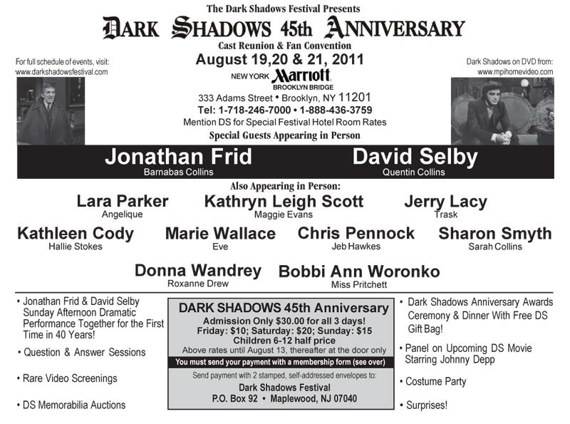 Dark Shadows 45th Anniversary